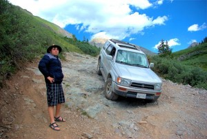 Vernon Heywood and Son on Black Bear Pass in Colorado