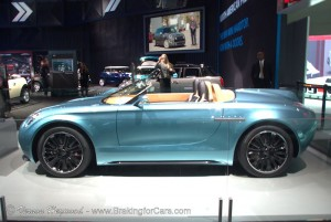 Profile of the MINI Superlegerra Vision Concept at the 2014 LA Auto Show