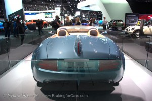Rear view of the MINI Superlegerra Vision Concept at the 2014 LA Auto Show