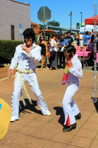 A pair of Elvis impersonators at the 2017 Garden Grove Elvis Festival