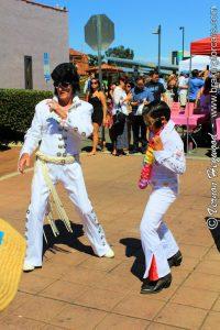 A pair of Elvis impersonators at the 2017 Garden Grove Elvis Festival